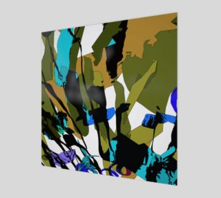 Khaki & Blue Abstract Floral by HOLLIDAY preview