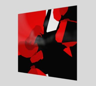 Red & Black Abstract by HOLLIDAY preview