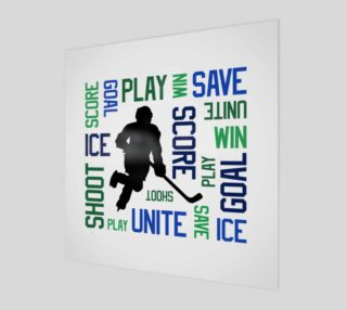 For the Love of Hockey - Blue and Green Print preview