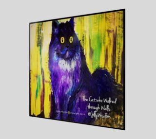 The Cat Who Walked Through Walls by Jilly Jesson Smyth - ArtbyJilly  preview