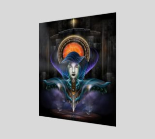 Trilia - Goddess Of The Orange Moon 20x24 Poster preview
