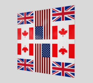 ABC Three Flags Wall Art preview