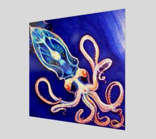 Translucent Squid Art - Wood Print preview