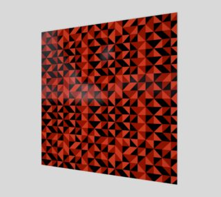 Red Triangles Canvas preview