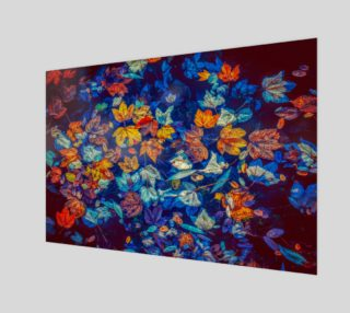 fall-leaves negative mix wall art preview