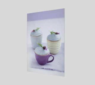 Three lavender cupcakes preview