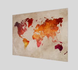 Aperçu de World Map red