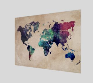Aperçu de World Map 1 art print
