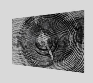 Black and White Wood Round Photo Print preview