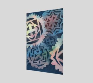 Snowflakes watercolor pattern colorful and deep blue preview