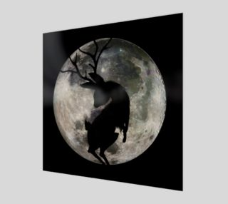 Jakalope Moon Shadow Square Canvas or Acrylic preview
