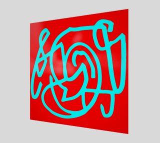 Red blue turquoise gar aperçu