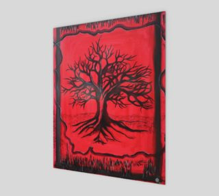 The Red Tree Art Print 8x10 preview