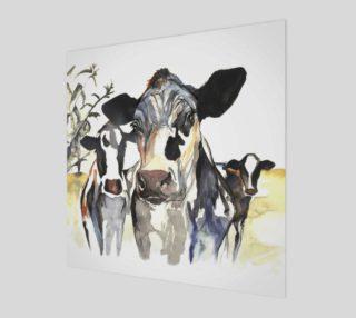 Aperçu de Three Cows Square Print