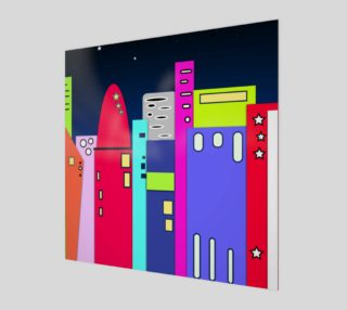 "Space City Poster Wall Art 12"" x 12"" preview"