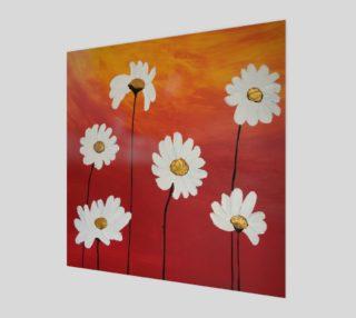 Daisy Sunset Art Print preview