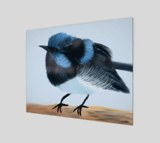 "Blue Wren Wall Art 14"" x 11"" preview"