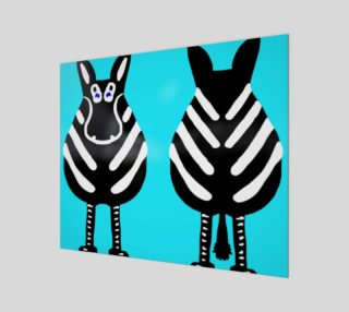 """Zebra Both Ends 24"""" x 20"""" preview"""