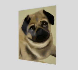 "Pug Love Wall Art 11"" x 14"" preview"