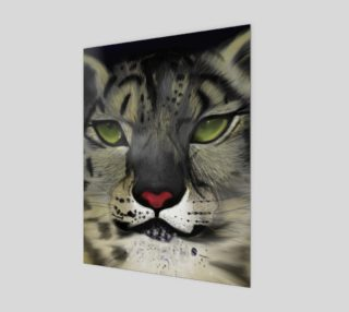 "Snow Leopard Wall Art 11"" x 14"" preview"