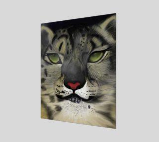 "Snow Leopard Wall Art 16"" x 20"" preview"