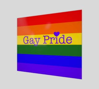 """Gay Pride Love Wall Art 24"""" x 20"""" preview"""