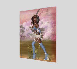 Warrior Woman Fantasy Art Print by Tabz Jones preview