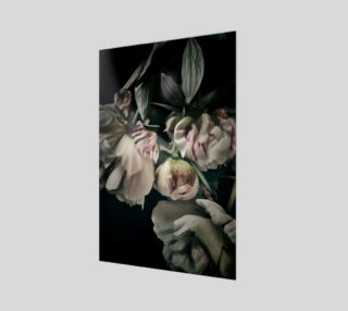 Peony bloom old masters poster preview