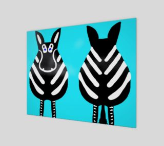 """Zebra Both Ends 14"""" x 11"""" preview"""