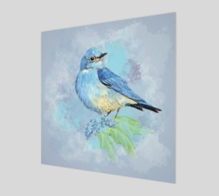 Aperçu de Watercolor Bluebird Blue Bird Nature Art