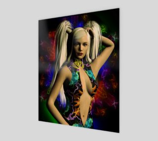 Electric Rainbow fantasy art pinup by tabz Jones preview