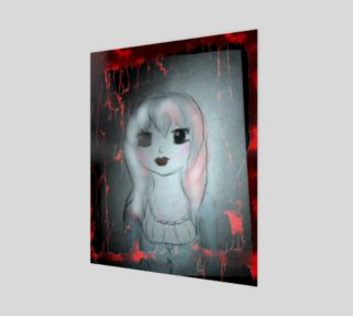 Ghost Girl Mixed Media Gothic art by Tabz Jones preview