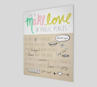 Make Love in Public 8x10 preview