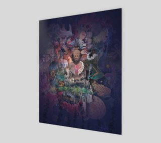 Buddha Meditation Collage Art Print preview
