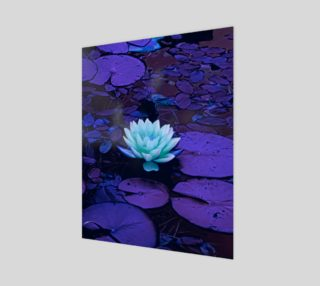 Aperçu de Lotus Flower Purple Turquoise Wood Print