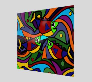 Aperçu de Funny Colorful Fish Abstract Art