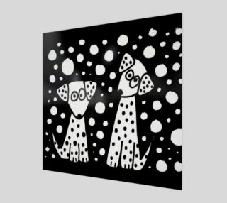 Aperçu de Funny Dalmatian Dogs Abstract Art