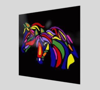 Aperçu de Colorful Horses Abstract Art