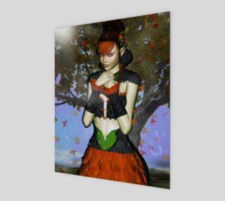 Aperçu de Autumn Fairy Fantasy Art Print by Tabz Jones