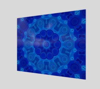 Aperçu de Blue Mandala Flower Art Wood Print