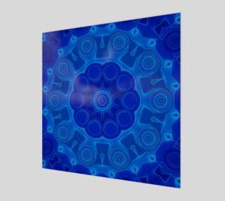 Aperçu de Blue Mandala Flower Art Print