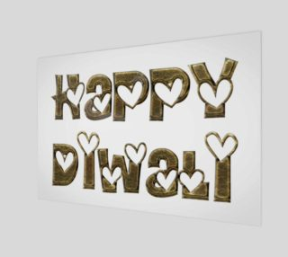 Festival of Lights Happy Diwali Greeting Typography Poster preview