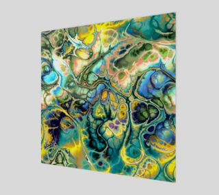 Flower Power FRACTAL BATIK Teal Yellow preview