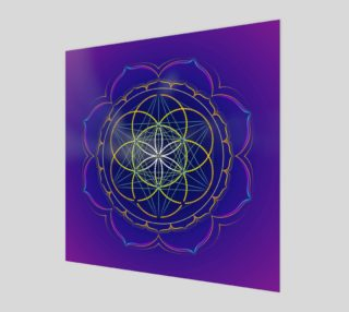 Aperçu de Seed of Life & Metatron's cube mandala