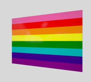 Aperçu de Rainbow Flag Original 8 Stripes Pattern LGBT Pride