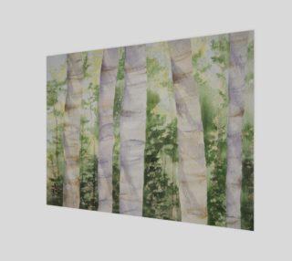 Birch Tree Wood Print preview