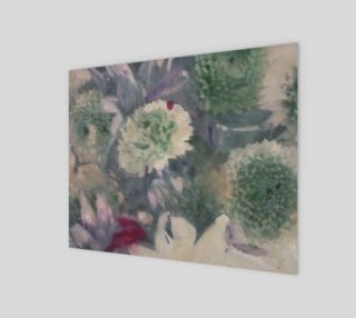 Blur blossoms floral photo painting print preview