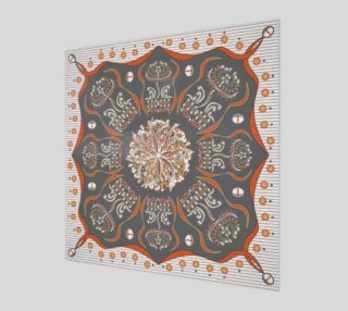 Exotic Flower | Orange | Gray | Beige | White preview