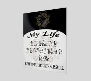 My Life Mandala Poster preview