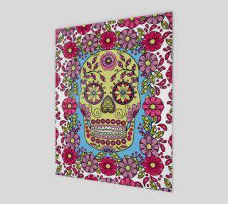 Aperçu de Flower Framed Flower Sugar Skull Art Print